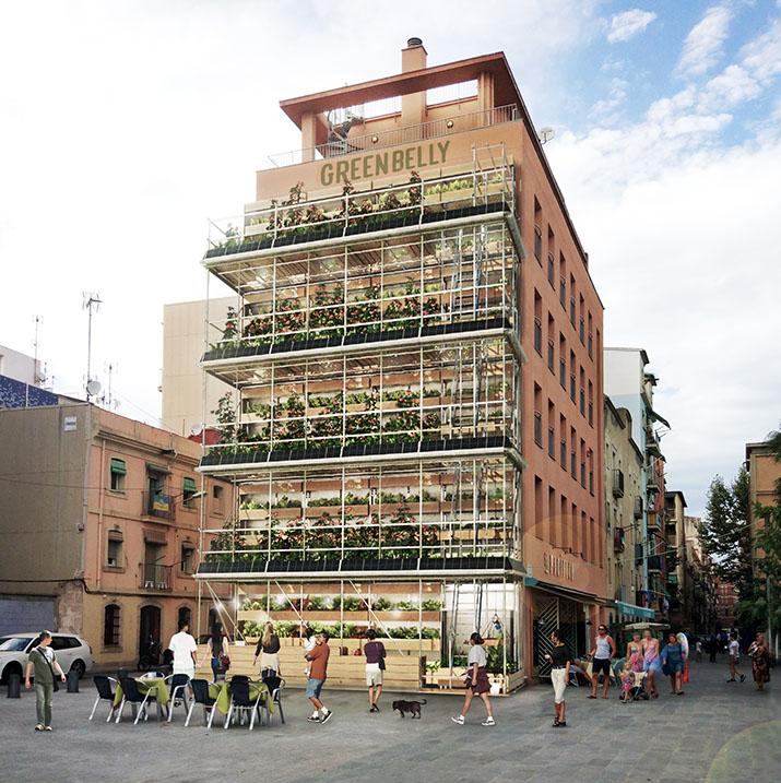 Vertical Urban Garden for modern cities by Alex Losada Barcelona