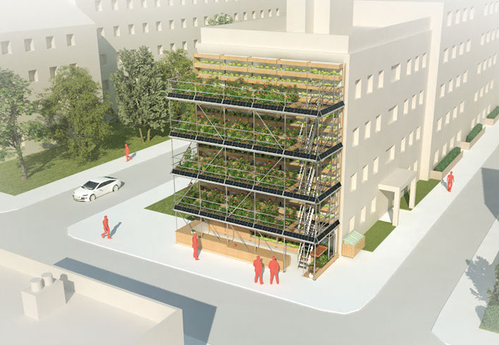 Vertical Urban Garden for modern cities